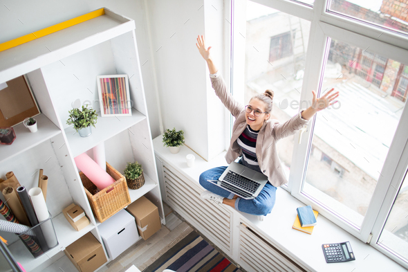 So excited - Stock Photo - Images