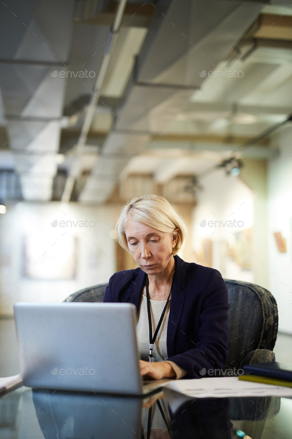 Museum Manager Worker - Stock Photo - Images