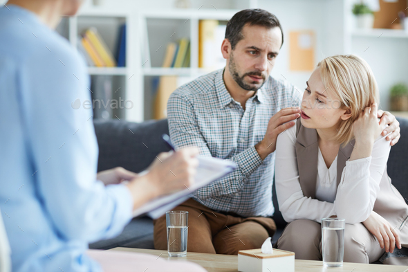 Stressed wife - Stock Photo - Images