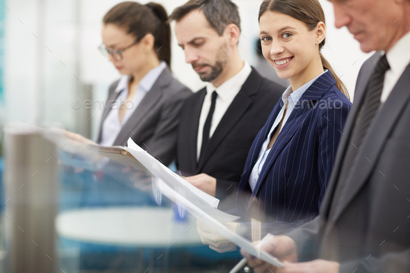 Row of Business People - Stock Photo - Images