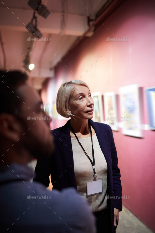 Art Gallery Curator in Museum - Stock Photo - Images
