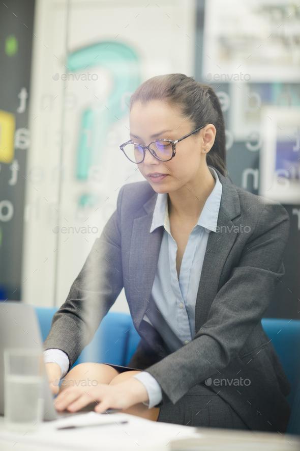 Businesswoman using Laptop - Stock Photo - Images
