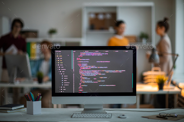 Coded stuff on screen - Stock Photo - Images