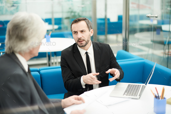 Two Business Partners in Meeting - Stock Photo - Images