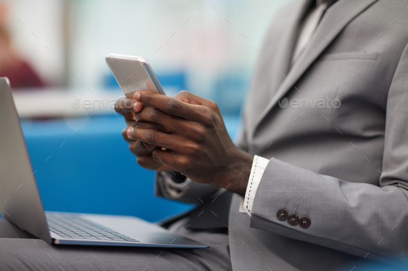 African Businessman Working Close up - Stock Photo - Images