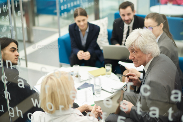 Senior Boss in Meeting - Stock Photo - Images