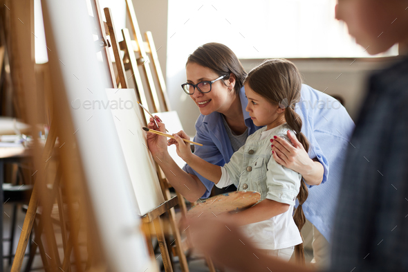 Art Class for Children - Stock Photo - Images