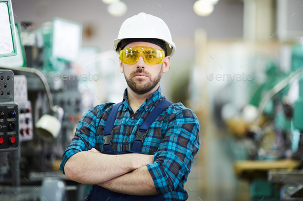 Modern Factory Worker - Stock Photo - Images