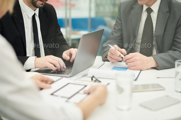 Office Meeting Close Up - Stock Photo - Images