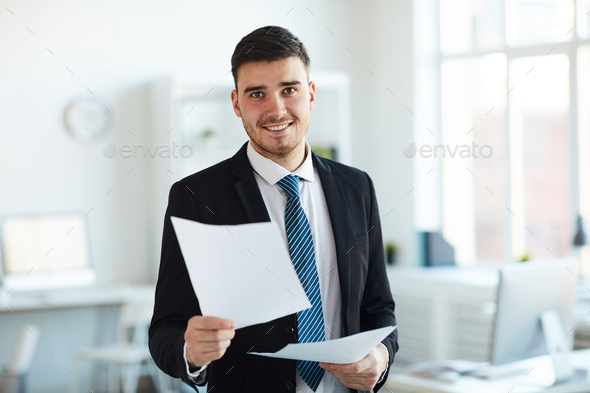 Banker in office - Stock Photo - Images