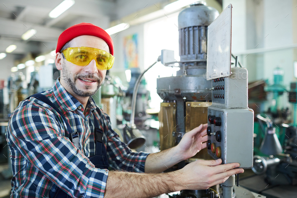 Machine Operator at Plant - Stock Photo - Images