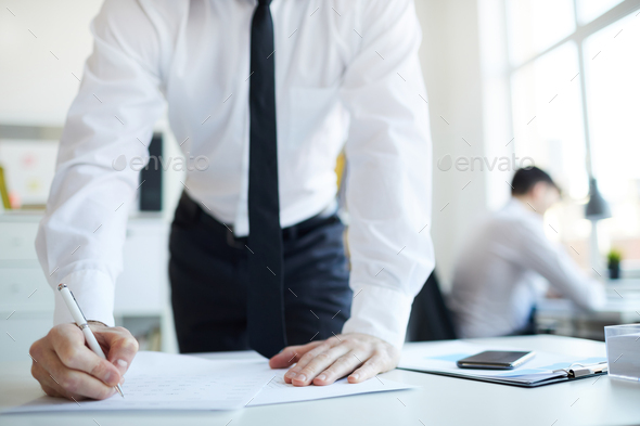 Signature in contract - Stock Photo - Images
