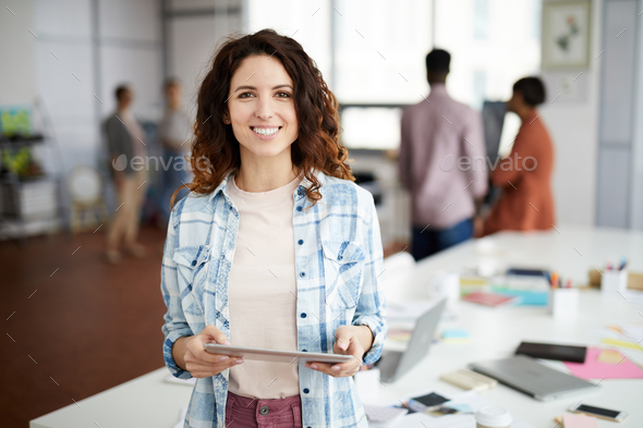 Contemporary Creative Woman in Office - Stock Photo - Images