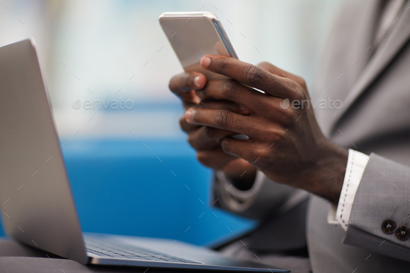 African Businessman Working Closeup - Stock Photo - Images