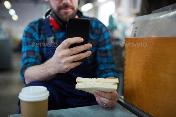 Unrecognizable Worker on Break - Stock Photo - Images