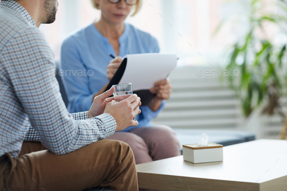 Patient with water - Stock Photo - Images