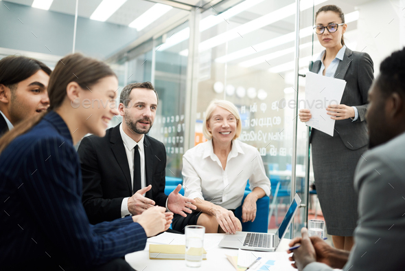 Briefing in Office - Stock Photo - Images