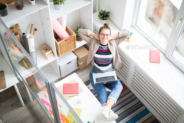 Inspired woman - Stock Photo - Images