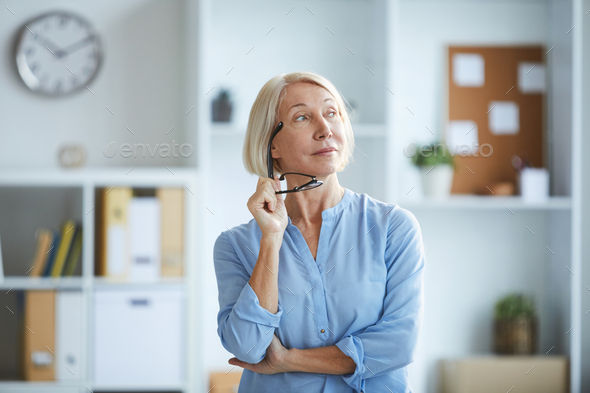 Pensive woman - Stock Photo - Images