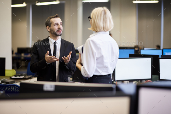 Mature Business Partners Talking - Stock Photo - Images