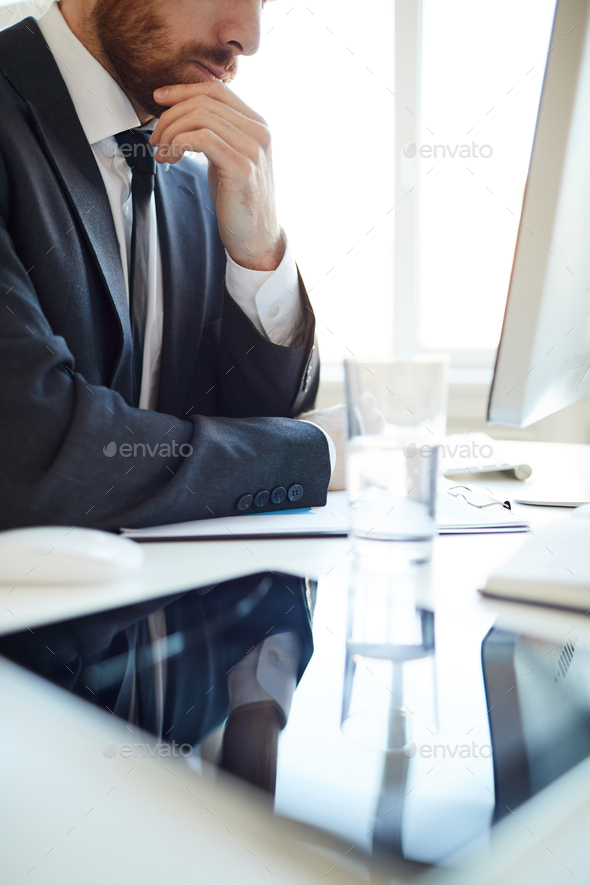 Analyst by desk - Stock Photo - Images