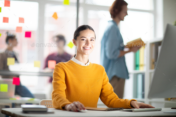 Designer in office - Stock Photo - Images