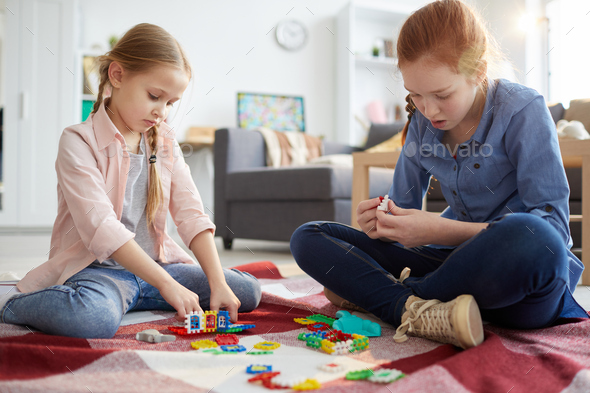 Children Playing with Toys - Stock Photo - Images