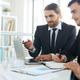 Men discussing online data - PhotoDune Item for Sale