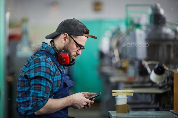 Worker on Break - Stock Photo - Images