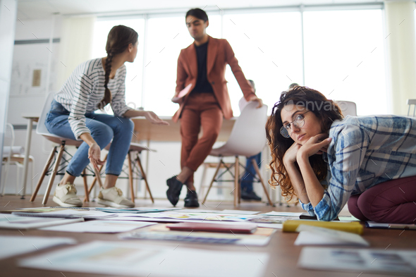 Contemporary Businesspeople Planning Project - Stock Photo - Images