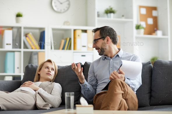 Woman and counselor - Stock Photo - Images