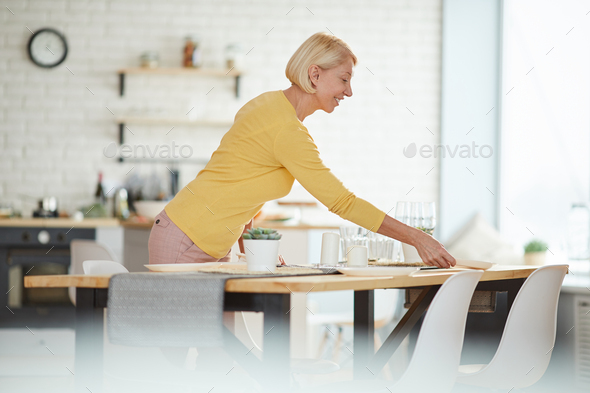 Preparing for dinner party - Stock Photo - Images