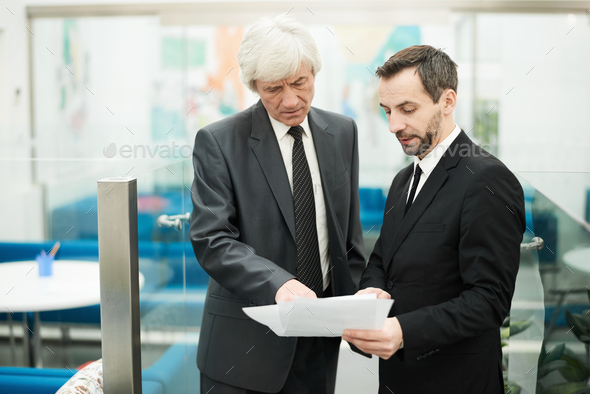 Two Senior Businessmen at Work - Stock Photo - Images