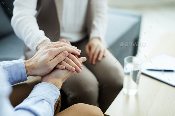 Comforting woman in trouble - Stock Photo - Images