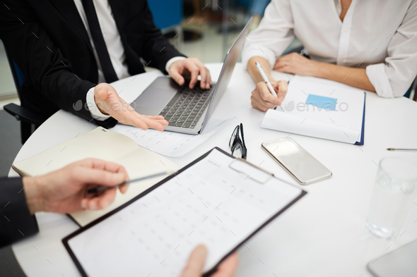 Business Meeting Close up - Stock Photo - Images
