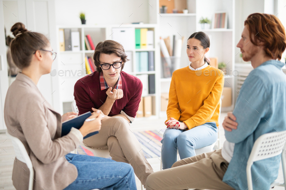 Discussing trouble - Stock Photo - Images