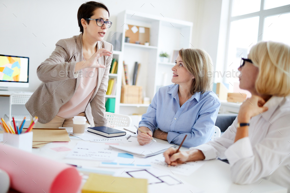 Group of Designers Collaborating - Stock Photo - Images