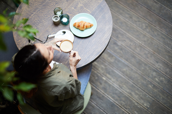 Having breakfast in coffee shop - Stock Photo - Images