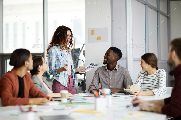Contemporary Business Team Collaborating - Stock Photo - Images