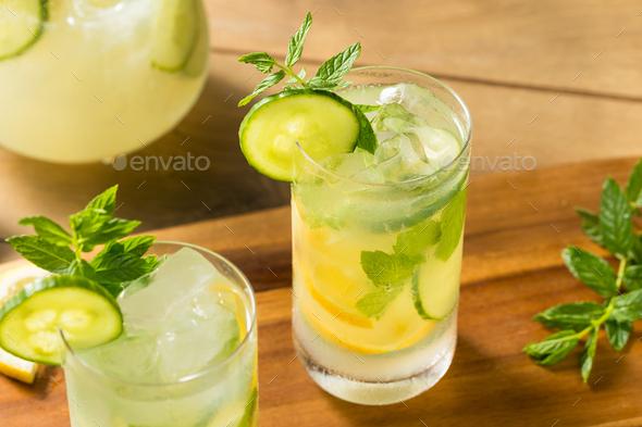 Homemade Cucumber Mint Lemonade - Stock Photo - Images