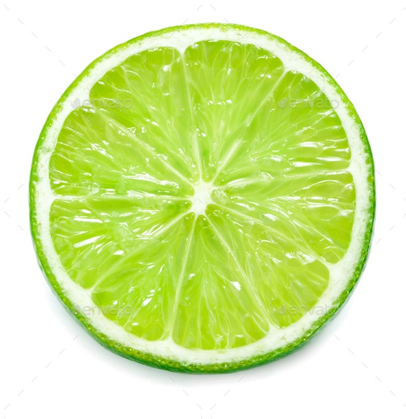 Slice of limes - Stock Photo - Images