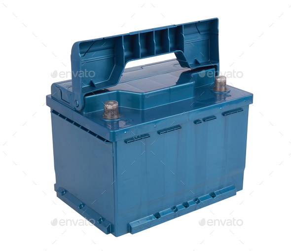 Car battery isolated - Stock Photo - Images