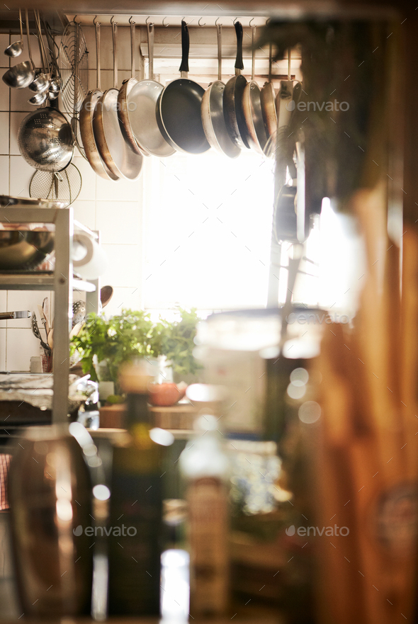 Cluttered Commercial Kitchen - Stock Photo - Images