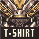 Aztec Skull T-Shirt Design
