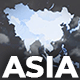 Map of Asia with Countries - Asia Map Kit - VideoHive Item for Sale
