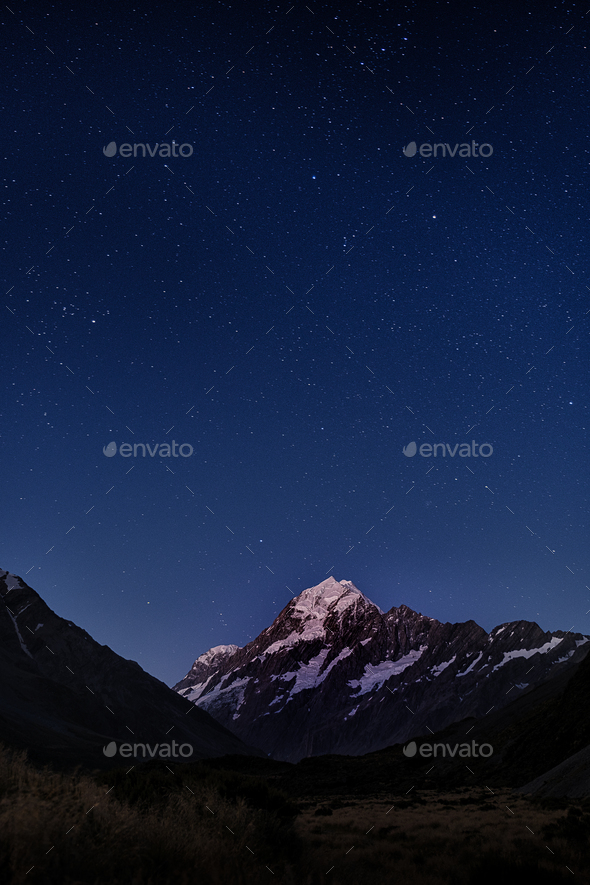 Goodnight Mount Cook - Stock Photo - Images