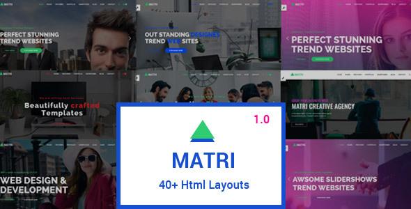 Matri | Responsive MultiPurpose HTML5 Website Template by codelayers