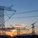 power transmission pylon in sunrise - PhotoDune Item for Sale