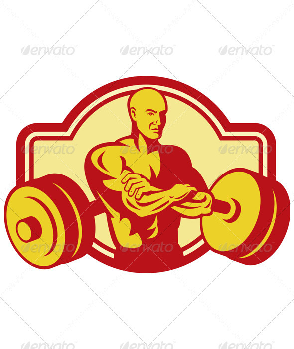 Weightlifter with his Arms Crossed - People Characters