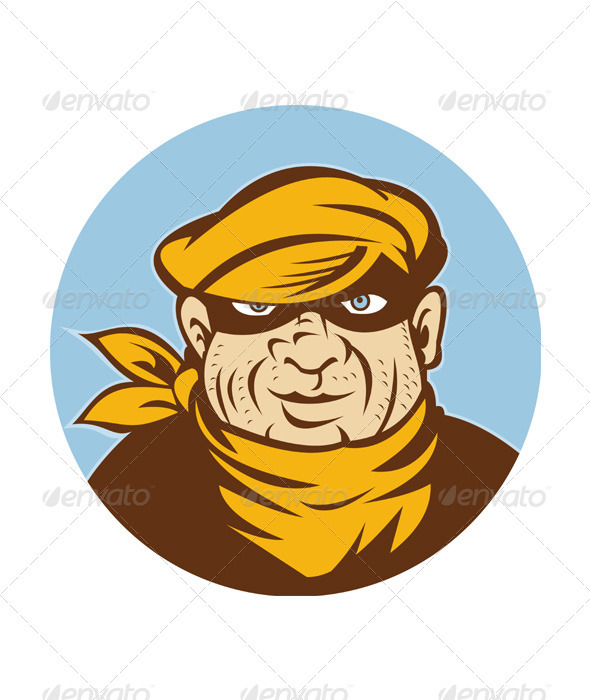 Head Shot of a Burglar  - People Characters